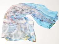 "Art Scarf , ""Grace Church"", 36 x 36 inches"