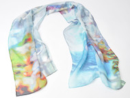 "Art Scarf , ""Strand's Grace"", 36 x 36 inches"