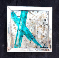 """Mixed media, """"Blue X"""", Diana Mui, 2014"""