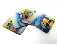 "Set of Four Art Coasters, ""Mona Lisa and Leonardo"""