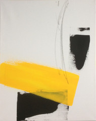"Painting, ""Composition with yellow"", KUBI, 2015"
