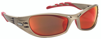 Ao Safety Fuel Safety Eyewear (Sand with Red Mirror Lens): 11640-00000