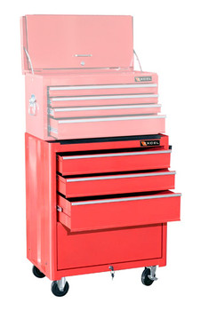 Roller Cabinet Bottom Chest (Red)