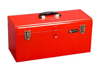 20 In. Portable Metal Toolbox (Red or Black)