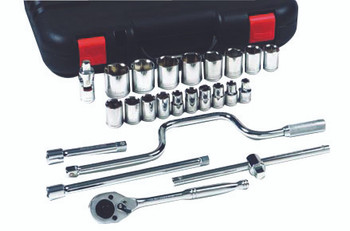 25 Pc Standard Socket Sets: 07-868