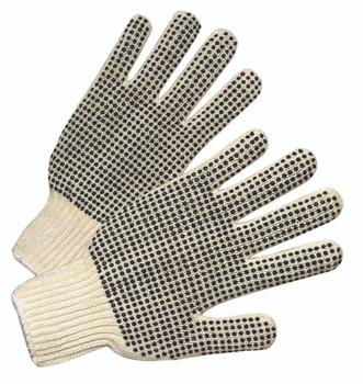 Anchor General Protection String Knit Gloves - With PVC Dots
