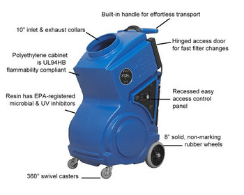 Abatement Technologies Portable Air Scrubber: PRED1200