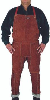 Split Leg Bib Aprons (Leather): 301-S