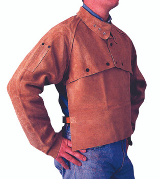 Cape Sleeves (Golden Brown Leather): Q-2-2XL