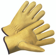 4000 Series Pigskin Leather Driver Gloves (Large): 4800L