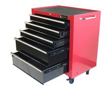 Five Drawer Roller Cabinet (Red or Black)