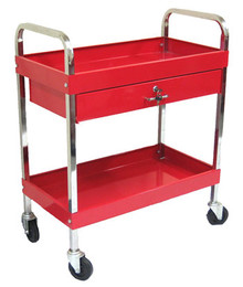 Two Tray (One Drawer) Tool Cart (Red)