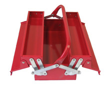 Cantilever Metal Toolbox (3 Trays - Red) 1