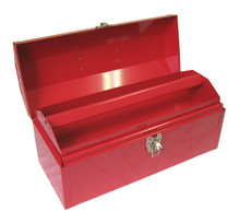 Portable Metal Toolbox (Red - 17 in.)