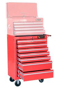 Seven Drawer Metal Roller Cabinet (Red or Black)