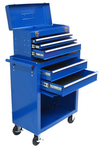 Two Piece Metal Roller Tool Chest (Blue)