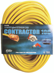 Vinyl Extension Cords (100 ft.): 02689