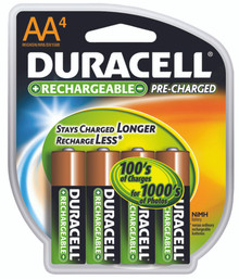 Duracell Pre-Charged Rechargeable Batteries (AA): DX1500R4