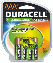 Duracell Pre-Charged Rechargeable Batteries (AAA.): DX2400R4