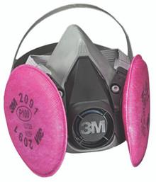 6000 Series Half Facepiece Respirator Assemblies (Medium): 6291