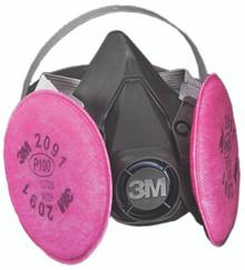 6000 Series Half Facepiece Respirator Assemblies (Large): 6391