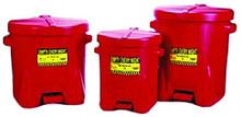 Eagle Polyethylene Oily Waste Cans: 933-FL Series