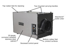 Abatement Technologies HEPA-AIRE® Portable Air Scrubber: PAS600