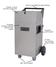Abatement Technologies HEPA-AIRE® Portable Air Scrubber: PAS1200