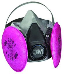 3M 6000 Series Half Facepiece Respirator Assemblies: Choose Size