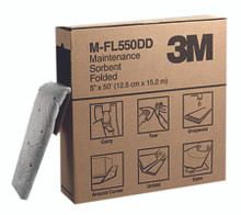 3M High-Capacity Maintenance Folded Sorbents (5 in. X 50 ft.): M-FL550DD