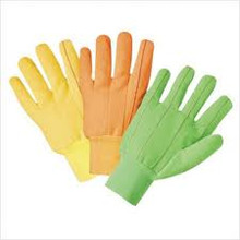 1000 Series Canvas Gloves (Large): 1060OR (Orange)