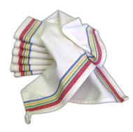 Aunt Martha's Stitch 'Em Up Retro Multi Stripe Towels Retail Set of 12
