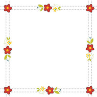 Aunt Martha's Quilting Fabric - Retro Flower Print