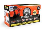 Camco RhinoFLEX 20' Sewer Hose Kit w/4n1 Fitting,Elbow, Caps