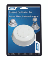 Camco Replace All Plumbing Sewer Vent Cap Only Polar White