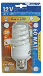 Camco Light Bulb 12V-15W Fluorescent(15W Fluor = 60W Incandescent)