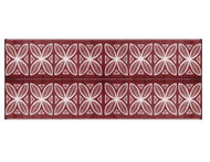 Camco Outdoor Mat, 8' x 20', Burgundy Botanical, w/UV