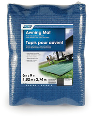 Camco Awning Leisure Mat, 6' x 9', Blue Reversible