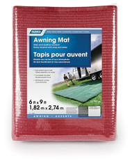 Camco Awning Leisure Mat, 6' x 9', Burgundy Reversible