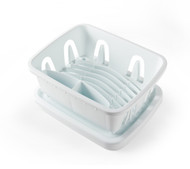 Camco Mini Dish Drainer & Tray, White