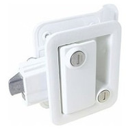 Entry Door Locking Handle for Travel Trailer - White