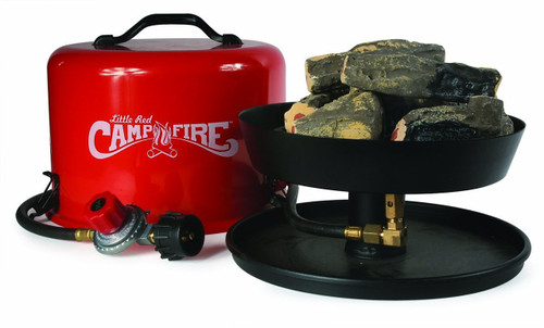 Portable Fire Pit Little Red Campfire Propane 58031