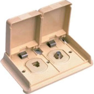 Winegard Outdoor Telephone/Television Receptacle - Ivory