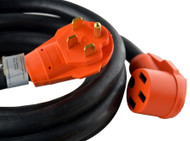 Cynder RV Orange 50 Amp Extension Cord Camper 25'