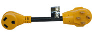 Cynder Yellow Dogbone Pigtail Adapter 50 Amp Male to 30 Amp Female