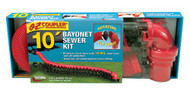Valterra EZ Coupler Bayonet Sewer Hose Kit, 10', Boxed