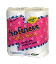Valterra Softness Toilet Tissue, 2 ply, 4/pk