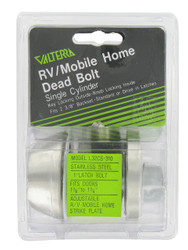 "Valterra Door Deadbolt, Single Cylinder, 1"" Throw, Clam Shell"