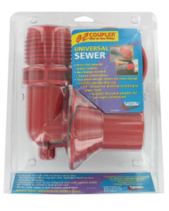 Valterra EZ Coupler 90° Sewer Adapter and Thread Attachment, Red, Carded