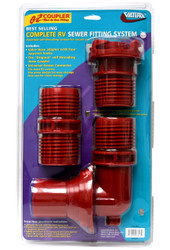 Valterra EZ Coupler 3-Piece System, Red, Carded